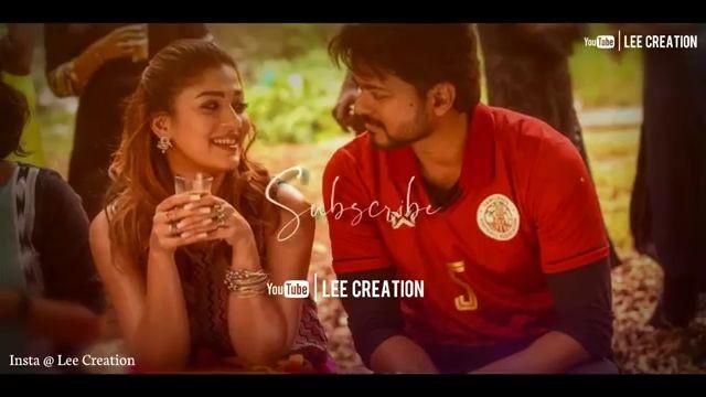 Unakaga Bigil Thalapathy Vijay Tamil Lyrical Status Video download
