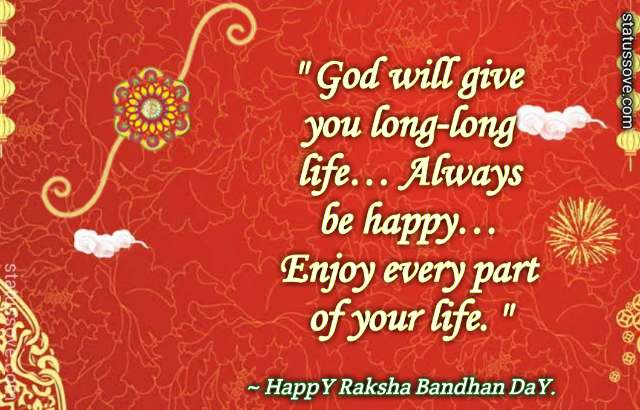 God will give you long-long life… Always be happy… Enjoy every part of your life.