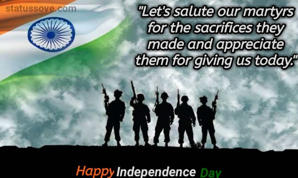 Let's salute our martyrs for the sacrifices they made and appreciate them for giving us today.