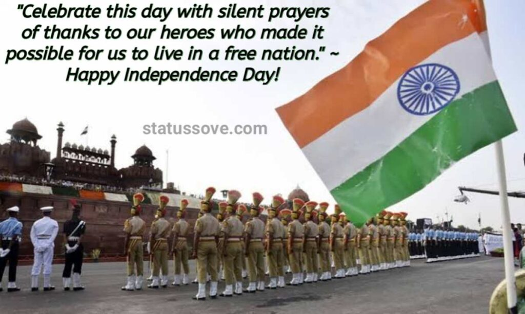 Celebrate this day with silent prayers of thanks to our heroes who made it possible for us to live in a free nation. Happy Independence Day!