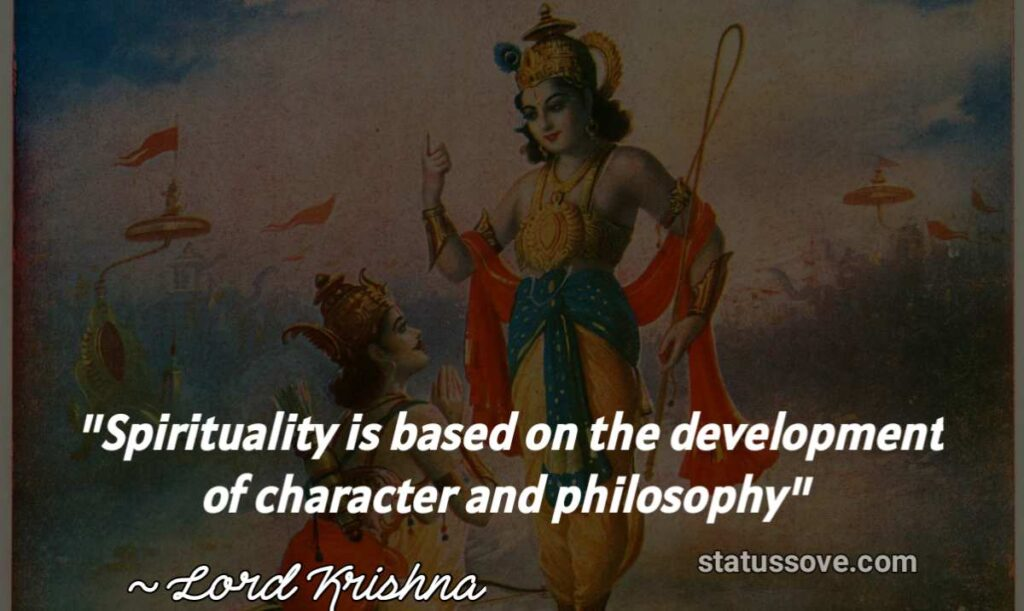 Spirituality is based on the development of character and philosophy.