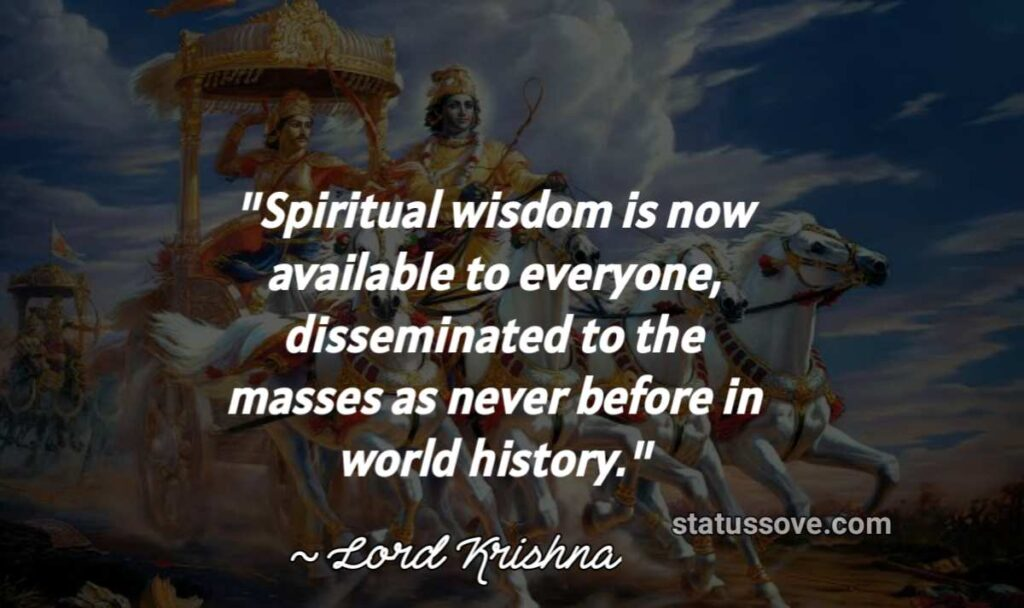 Spiritual wisdom is now available to everyone, disseminated to the masses as never before in world history.