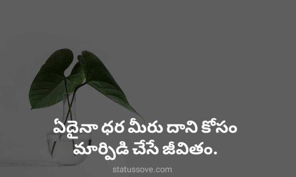 ఏదైనా ధర మీరు దాని కోసం మార్పిడి చేసే జీవితం Telugu life quotes